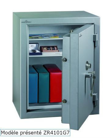 Coffre fort Ignifgue 30 minutes Papier ZR4790G7 Serrure à clés + disques