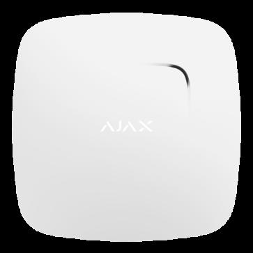 Détecteur de fumée et CO AJAX blanc
