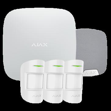 kit alarme AJAX 3x DETECTEURS + SIRENE INTERIEURE