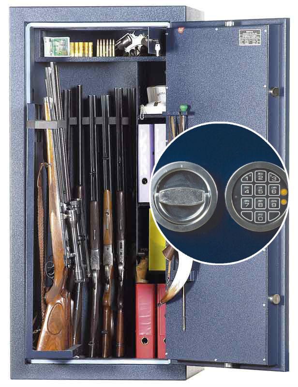 coffre fort pour 13 armes wt0613 serrure electronique. Black Bedroom Furniture Sets. Home Design Ideas