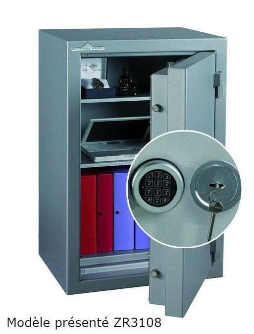 Coffre fort Ignifgue 30 minutes Papier ZR3554G6 Serrure à clés + Electronique