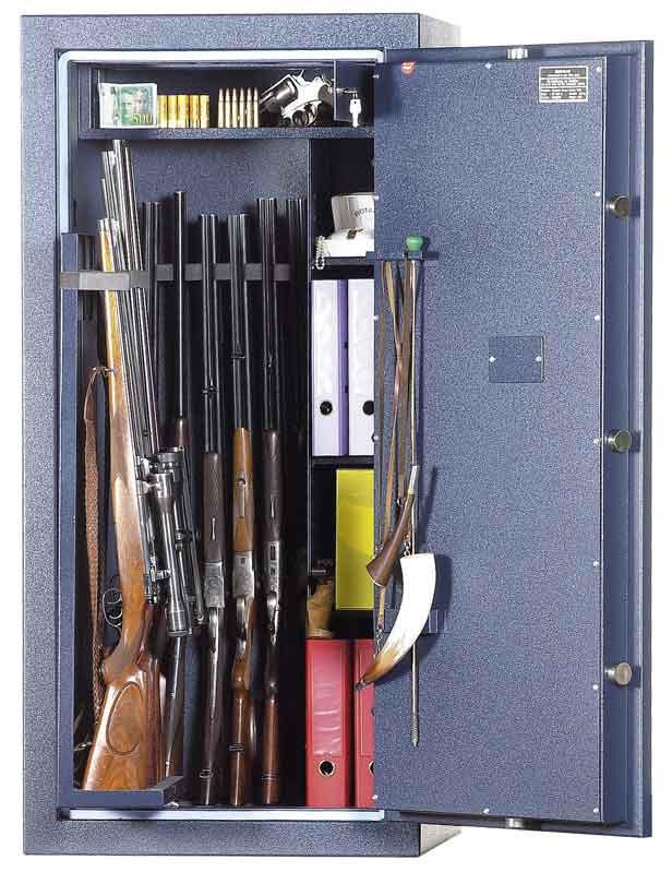 Coffre Fort Pour 13 Armes Wt0613 Serrure A Cles Coffrefortpro Com