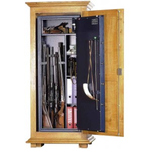 Armoire forte pour armes avec meuble en chêne massif ( en option)