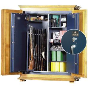 Coffre fort à fusils WT617 avec serrure à clés + serrure à 4 tubes compteurs